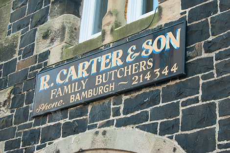 R. Carter & Son, Butcher, Bamburgh, Northumberland