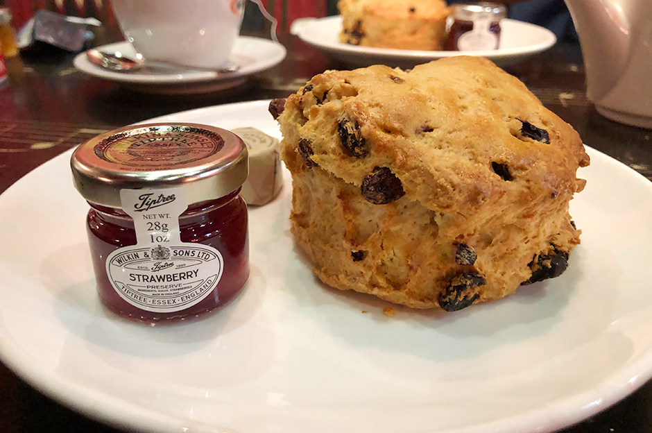 Delicious scones in the Barter Books cafe