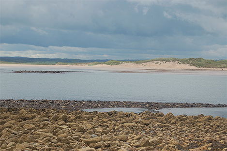 The view across the bay towards Low Newton