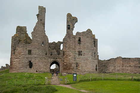 The distinctive ruins of Dunstanburgh Castle